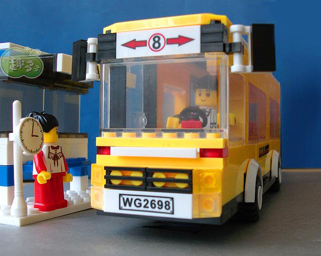 乐高式小颗粒塑料积木巴士正品万格汽车早教