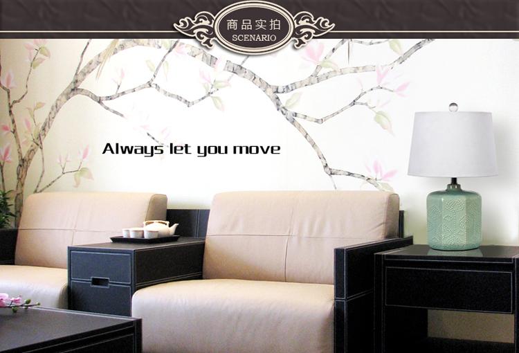 现代中式卧室床头灯 客厅装饰台灯 景德镇陶瓷蓝色新古典欧式灯饰