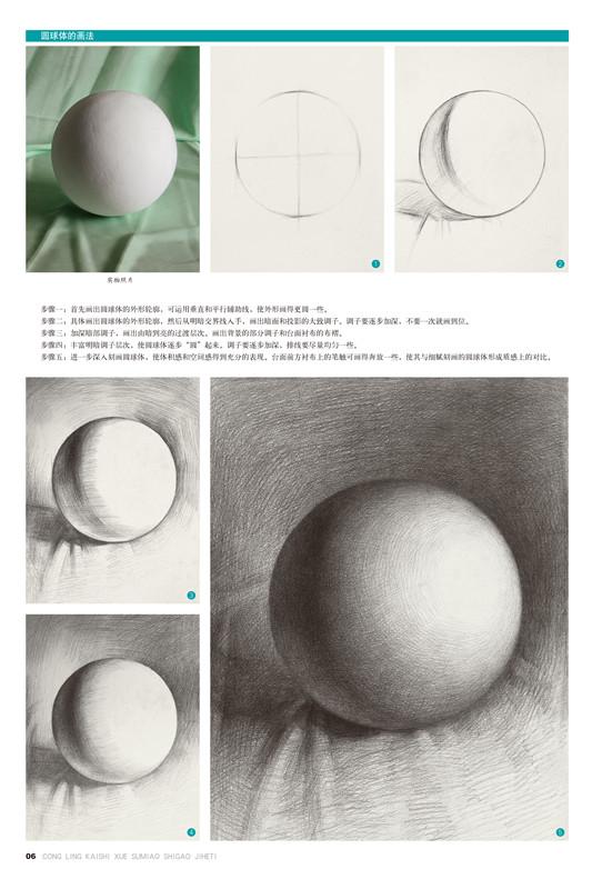 ys从零开始学素描.石膏几何体 段体贵