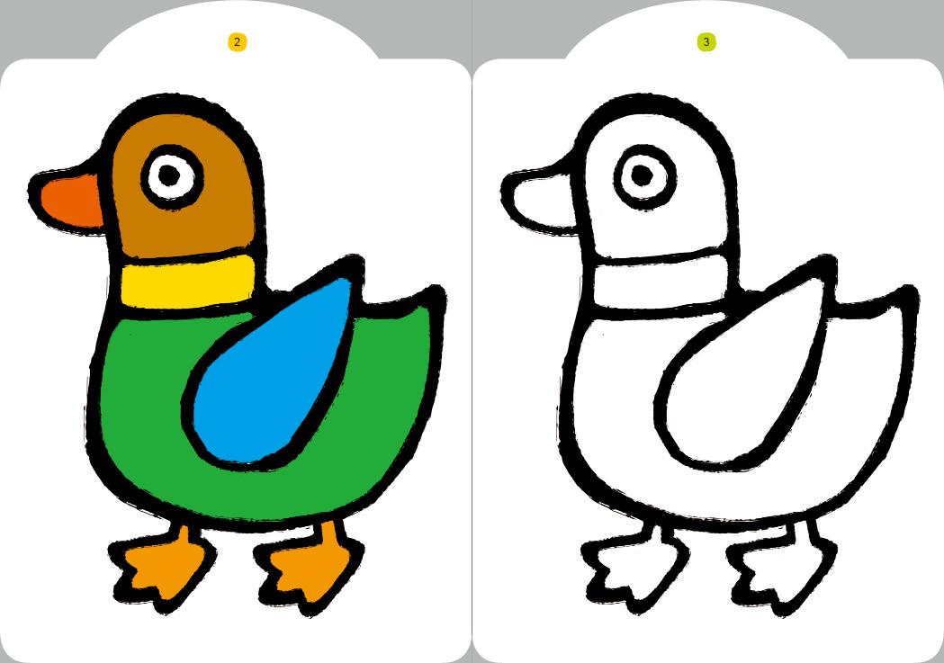 0-3岁涂色书全8册小红花图书书美术幼儿童涂色填宝艺术涂色书0~3岁色