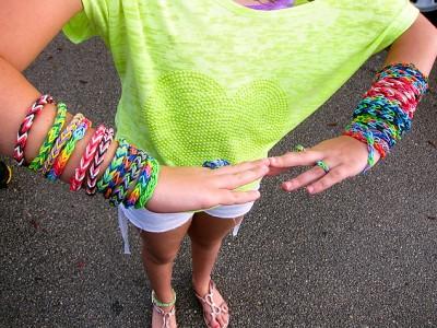 韩国彩虹编织工艺皮筋儿童diy手工制作玩具女孩织造手镯手链手绳_款五