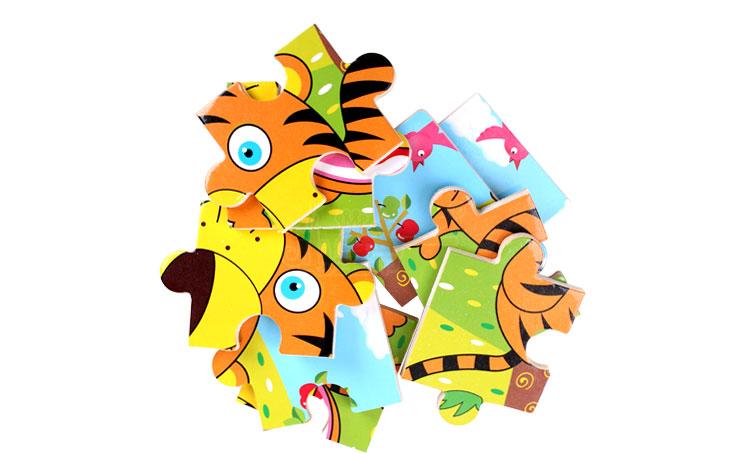 小皇帝新款卡通动物九块拼图全套智力套装儿童益智玩具礼物