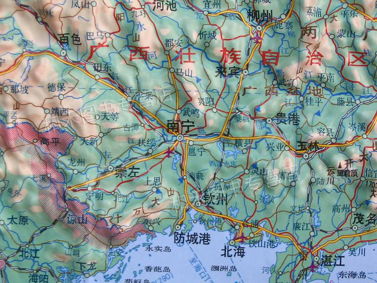 地图立体地形图