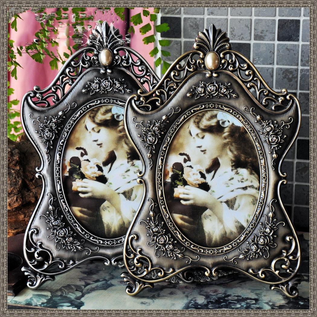 苏珊欧式复古奢华金属画框韩式非挂墙创意摆台相框