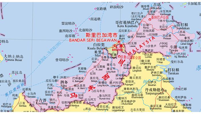 《世界热点国家地图·东南亚(1:6200000)