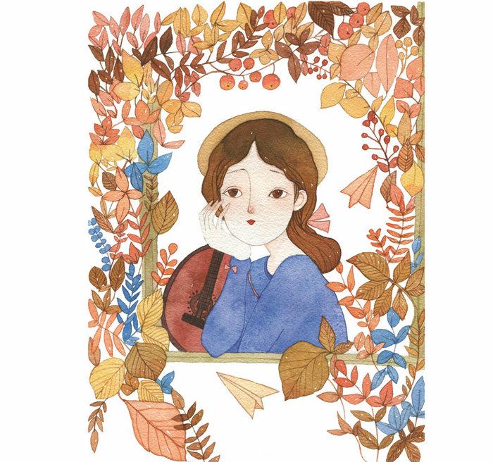 浪漫水彩课——森系少女手绘技法 9787115390875