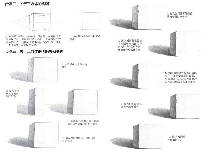 铅笔素描石膏几何体绘制详解 爱林文化 9787115418319
