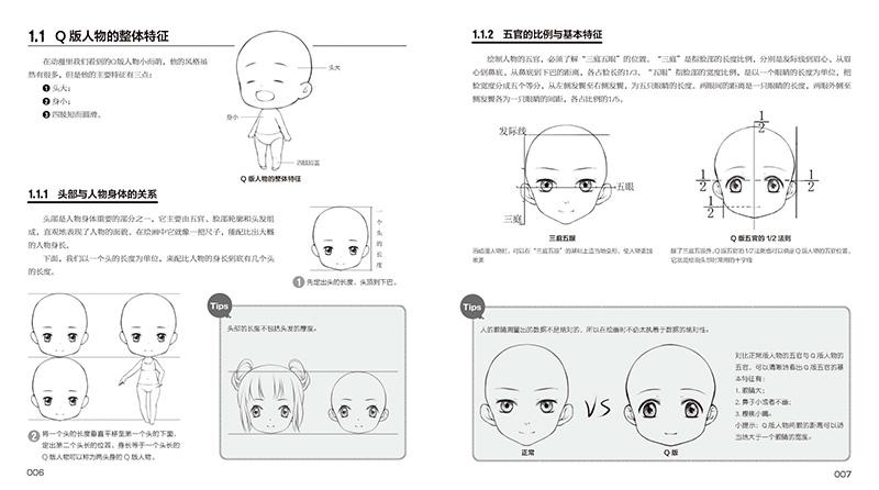 1.1 头部与人物身体的关系 1.1.2 五官的比例与基本特征 1.1.