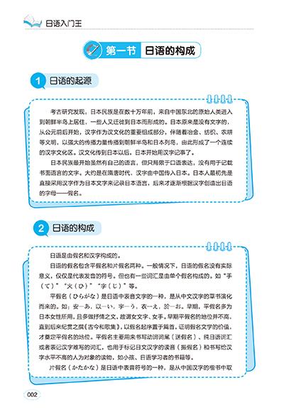 《日语入门王》内容丰富,简单实用,排版结构合理,和其他各类入门书