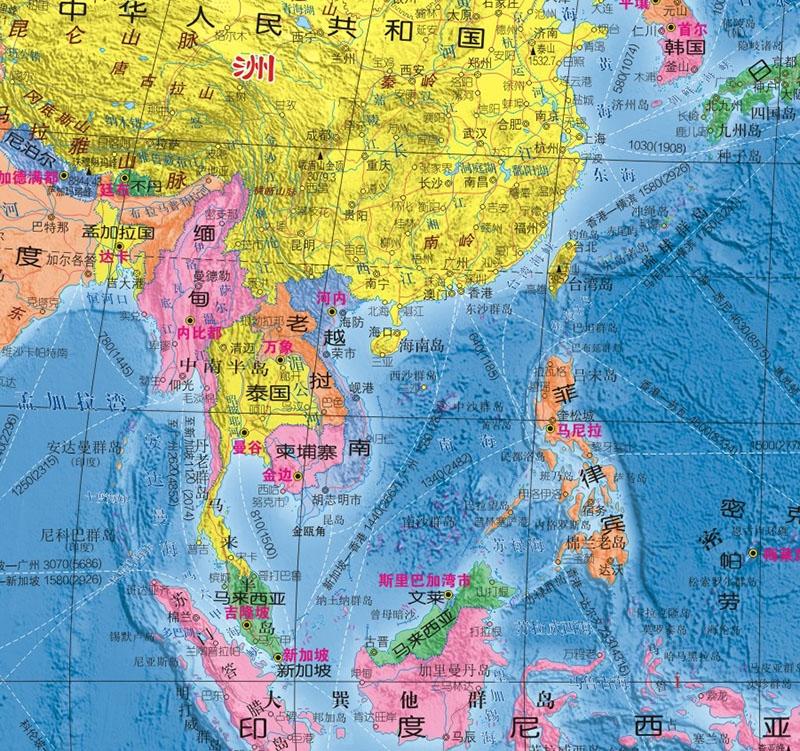 《(2017年新版)世界地图》(成都地图出版社)【简介
